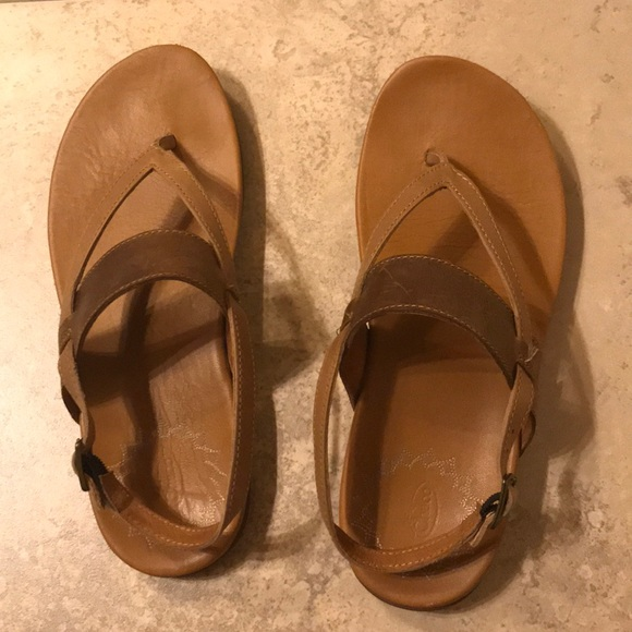 e16ab55c3229 Chaco Shoes - Chaco Maya II Leather Thong Sandal Brown